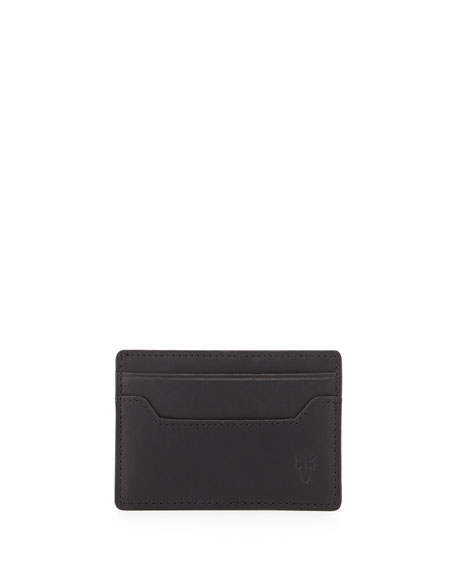 Frye Logan Leather Card Case, Black