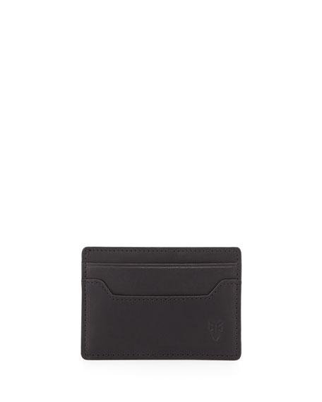 Frye Logan Leather Card Case, Black