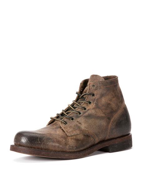 Frye Men S Prison Leather Boot Smoke Neiman Marcus