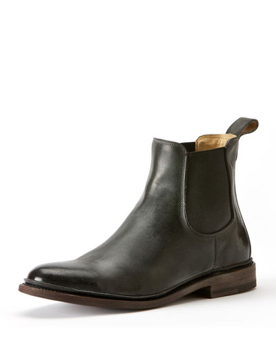 James Leather Chelsea Boot, Black
