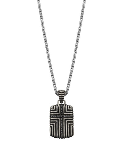 Men's Bedeg Cross Pendant Necklace