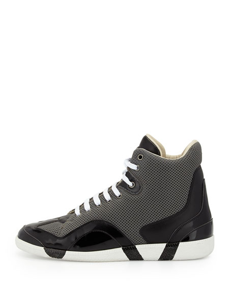 Collage Mesh High-Top Sneaker