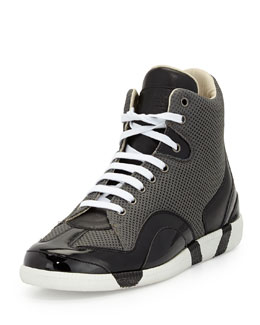 Maison Martin Margiela Collage Mesh High-Top Sneaker