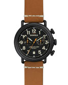Shinola 41mm Runwell Chrono Watch, Brown/Black