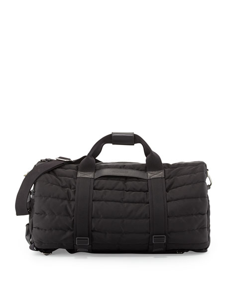 Moncler Quilted Nylon Gym Bag Black