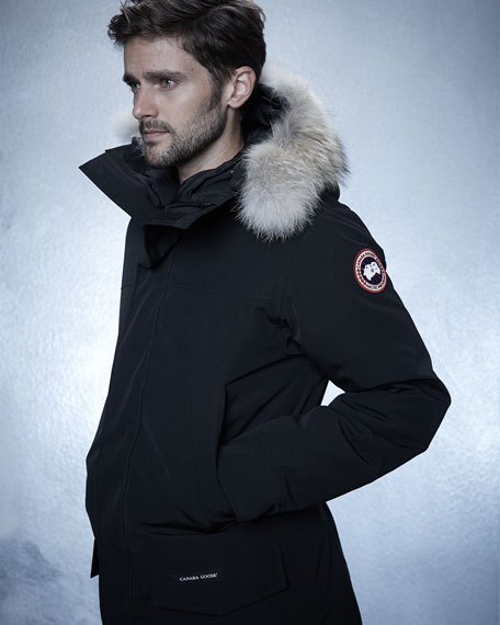 Canada Goose toronto sale authentic - Canada Goose Langford Arctic-Tech Parka Jacket with Fur Hood, Navy