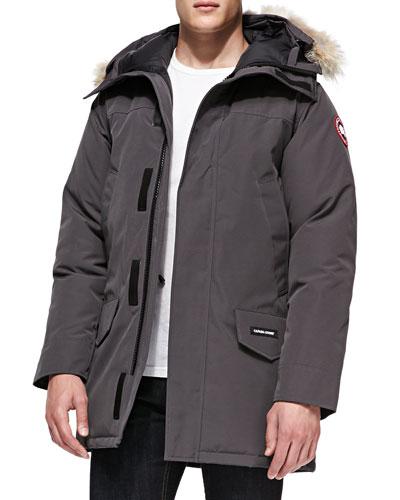 Canada Goose Langford Arctic-Tech Parka Jacket with Fur Hood, Graphite