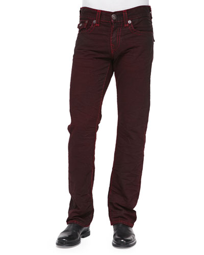True Religion Ricky Super T Red Jeans