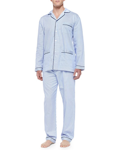Striped Pajama Set, Blue