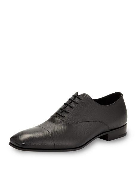 Prada Saffiano Leather Oxford, Black