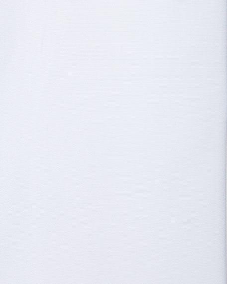Solid Poplin French-Cuff Shirt, White