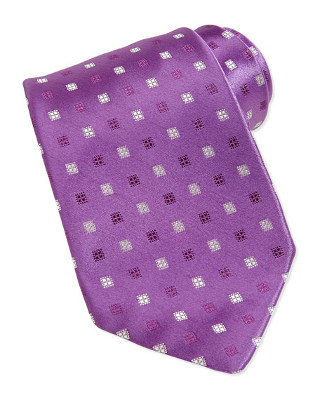 Neat Silk Tie, Purple