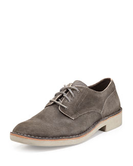 John Varvatos Star USA Sid Eva Suede Derby, Charcoal