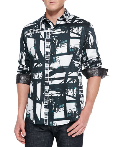 Robert Graham Limited Edition Blade Runner Sport Shirt, Multi