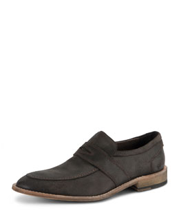 Andrew Marc District Suede Slip-On Shoe, Dark Brown