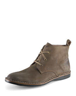 Andrew Marc Dorchester Canvas & Leather Chukka, Tan