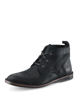 Andrew Marc Dorchester Canvas & Leather Chukka Boot, Black