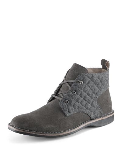Dorchester Canvas & Leather Chukka Boot, Gray
