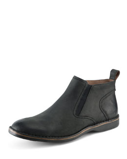 Eugene Leather Ankle Boot, Black