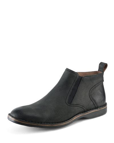 Eugene Leather Ankle Boot, Black