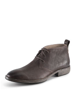Andrew Marc Standard Leather Lace-Up Boot
