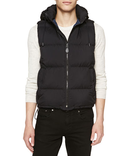 Quilted Puffer Vest, Black