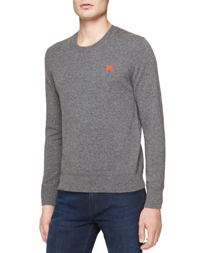 Burberry Brit Cashmere Crewneck Sweater, Gray