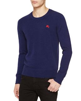Burberry Brit Cashmere Crewneck Sweater, Navy