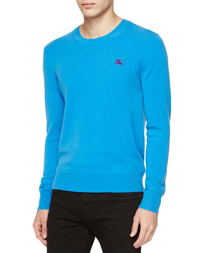 Burberry Brit Cashmere Crewneck Sweater, Blue