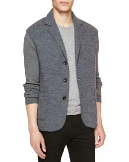 Burberry Brit Soft-Knit Three-Button Blazer