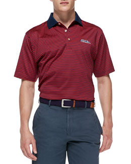 Peter Millar Ole Miss Gameday College Shirt Polo, Navy