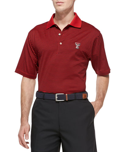 Peter Millar Texas Tech Gameday College Shirt Polo, Red