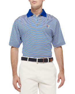 Peter Millar University of Kansas Striped Gameday College Polo Shirt