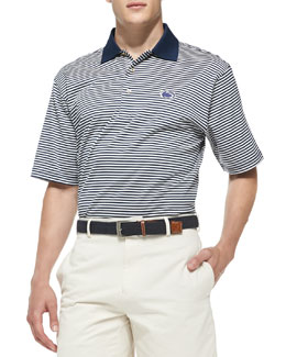 Peter Millar Penn State Striped Gameday College Polo Shirt