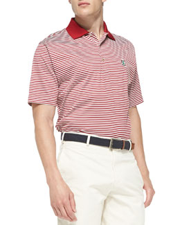 Peter Millar Stanford Striped Gameday College Polo Shirt