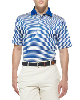 Peter Millar University of Kentucky Striped Gameday College Polo Shirt