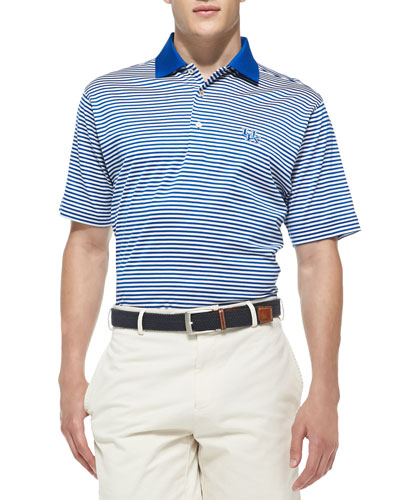 Peter Millar University of Kentucky Striped Gameday College Polo Shirt