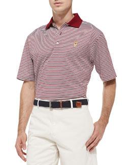 Peter Millar ASU Striped Gameday College Polo Shirt