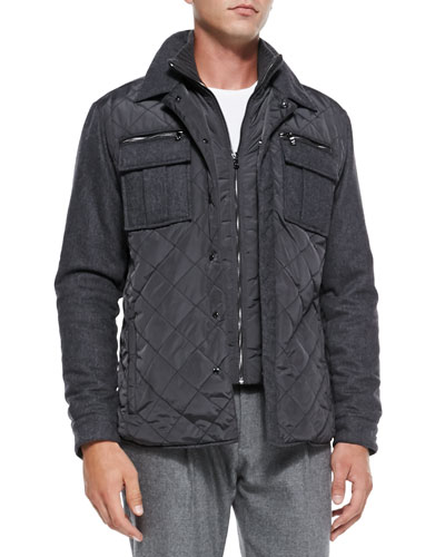 Michael Kors  Quilted Shirt-Jacket