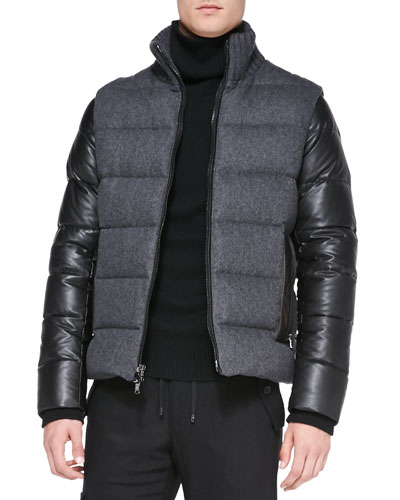 Michael Kors  Flannel/Tech Puffer Jacket