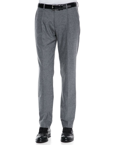 Michael Kors  Felt Pleat-Front Trousers