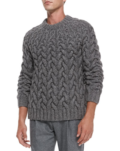 Michael Kors  Chunky Cable-Knit Sweater