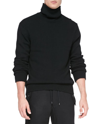 Michael Kors  Rib-Trim Cashmere Turtleneck