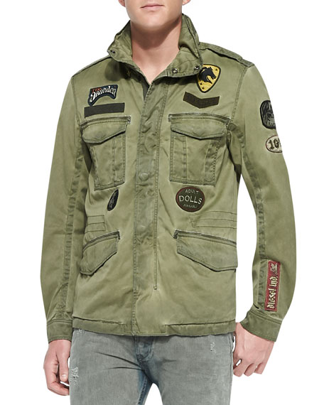 Diesel J-Amma Military Jacket W/ Patches