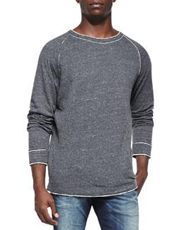 Diesel Slumis Raw-Edge Sweatshirt, Gray