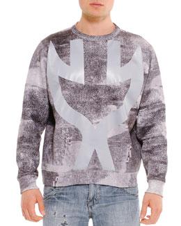 Uppercut Graphic Predator Sweatshirt, Gray