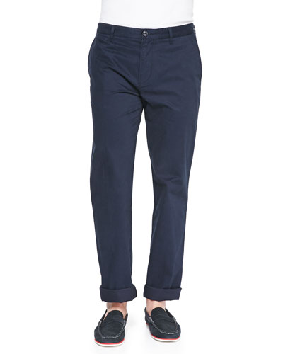 Slim Gabardine Chino Pants, Navy