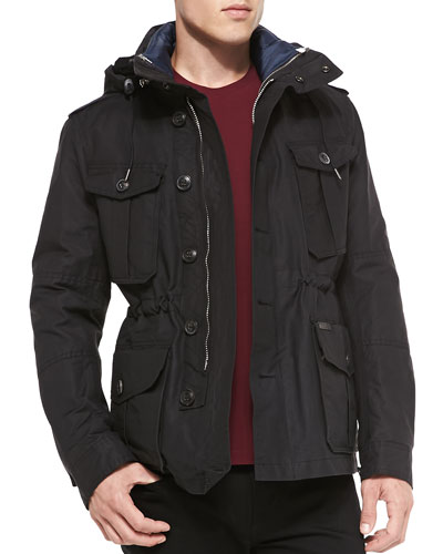 Burberry Brit Hooded 3-in-1 Field Jacket, Black