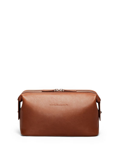Kenyatta Leather Travel Kit, Cognac
