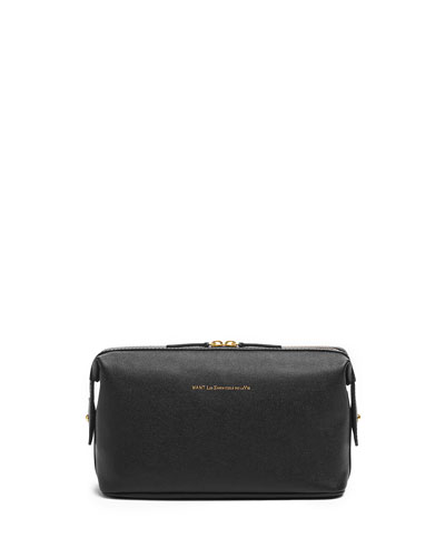 Kenyatta Leather Travel Kit, Black